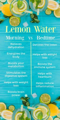 There are tons of benefits to drinking lemon water! But did you know the time of day can affect the health benefits? There are tons of benefits to drinking lemon water! But did you know the time of day can affect the health benefits? Healthy Detox, Healthy Drinks, Healthy Recipes, Healthy Water, Easy Detox, Water For Health, Detox Foods, How To Eat Healthy, Diet Detox