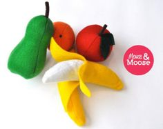 Eco Friendly 100% Wool pretend felt lemon for by MouseAndMoose