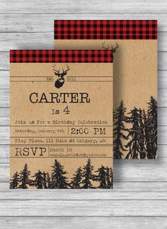Hipster Lumber Jack Invitation by AngelasPrintables on Etsy https://www.etsy.com/listing/231515642/hipster-lumber-jack-invitation