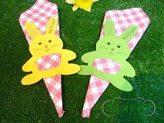 2 Serviettes en papier rondes Pâques Lapin oeuf Paper Napkins Easter