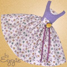 Polka Dots & Posies Vintage Barbie Doll Dress Reproduction Repro Barbie Clothes