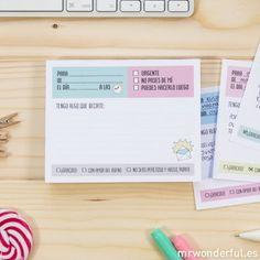 Bloc de notas para dejar mensajes y notas infalibles. #mrwonderful #notepad #stationery