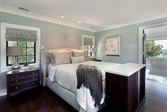 Bedroom wall color: BM Beach Glass 1564. Houzz.com