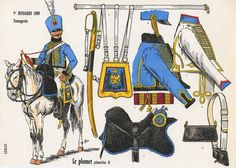 Reconstitution de l'uniforme de Trompette entre 1807-1809 d'après Rigo, Le Plumet, planche 9