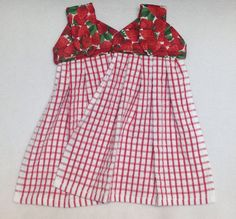 Strawberries Hanging Kitchen Towels by LisasBounty on Etsy