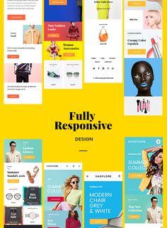 ShopLove E-commerce PSD Mobile Incl. by scknturk on @creativemarket