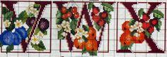 """Милые сердцу штучки: рукоделие, декор и многое другое: Вышивка крестом: """"Фруктовый алфавит"""""""