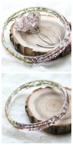 Resine Earrings and Bracelet, Preserved Flowers Jewelry Set, Terrarium Jewelry Set, Heather Jewelry Set, Preserved in Resin Jewelry Set by kskalozubova on Etsy https://www.etsy.com/listing/251193133/resine-earrings-and-bracelet-preserved