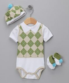 Take a look at this Sweet Tee Golf Bodysuit Set by Welcome Baby: Apparel & Accessories on #zulily today!