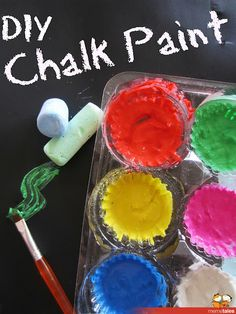 Learn with Play at home: DIY Chalk Paint