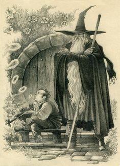 Иллюстрации к Толкину разных авторов. иллюстрации, средиземье, толкин, властелин колец, хоббит, с просторов, длиннопост