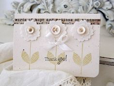 """Thank you"" card, by lilybean's papery"