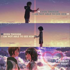 kimi no nawa Kimi No Na Wa, Anime Qoutes, Manga Quotes, Anime Love, Anime Guys, Anime People, Your Name Quotes, Mitsuha And Taki, Your Name Anime