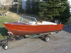 1954 14' Ross Mahogany Outboard Runabout