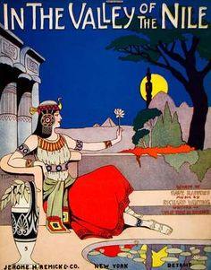 1915 Valley Nile Dave Radford Richard Whiting Egyptian Sheet Music Costume Song | eBay $45.95