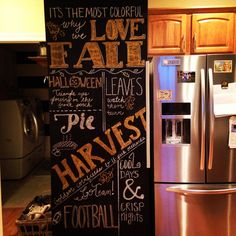 Large accent chalkboard wall for that months special occasions; holiday, birthday, summer fun.