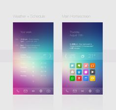 Android 7. ldjalal. XDA. Apple. iPhone. iOS 7. Inspriration. UCCW. Zooper. Colors. New. Modern. Flat Design. Informative. UI UX. Transparent.
