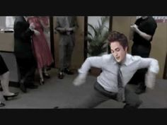 I challenge Robert Pattinson to a dance off. Clearly he knows his moves but I can do better!