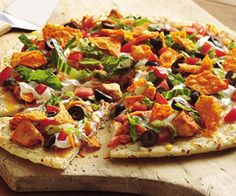 Yummy Chicken Taco Pizza!  Follow me daily for recipes, DIY projects, weight loss tips and much more at https://www.facebook.com/groups/DiannHealthyForLife/