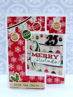 Merry Christmas Card from Very Merry Christmas Collection. #echoparkpaper