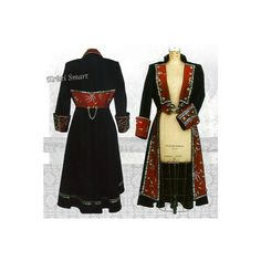 Frock coat, Pirate Coat, Waistcoat, wedding coat, Steampunk coat by... ❤ liked on Polyvore featuring outerwear, coats, pirate frock coat, steam punk coat, pirate coat, frock coat and steampunk frock coat