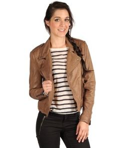 Selected Jodie Leather Jacket Brown