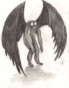 the mothman... i am obsessed with cryptozoology.