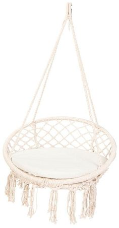 My teen would love this in her bedroom, if only we had more room :) This Tropicana Hammocks Swings Macrame Hanging Chair by Zanui would look great in a teens bedroom or on an outdoor decking area. I wouldn't mind it in a quiet room as part of my own lit Bedroom Decor For Teen Girls, Teen Girl Bedrooms, Teen Bedroom, Bedroom Ideas, Diy Bedroom, Bedroom Colors, Teen Bed Room Ideas, Chairs For Bedroom Teen, Quirky Bedroom