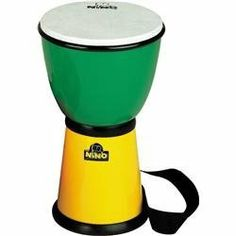 """Nino ABS Djembe with Nylon Strap Green/Yellow 8 Inches (Green/Yellow 8 Inches) by Nino. $49.99. Patented tuning system keeps it permanently tuned. 8"""" drum is great for world beat and classroom fun. Rugged ABS plastic body and synthetic head will stand up to hard play...... Save 38% Off!"""