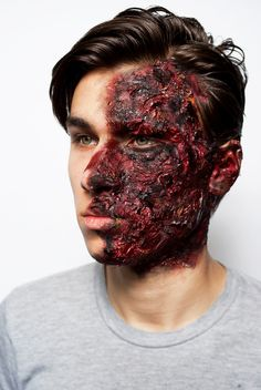 Burn Gore Makeup  http://presleyfoskett.com/ ~ haha I make the prosthetic used for this makeup!  Ahhhh love my job!