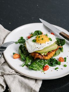Whole30 Breakfast - Sweet Potato Hash Brown Stacks Recipe - Also Paleo and Gluten Free!