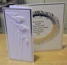 White & Silver Birthday Card