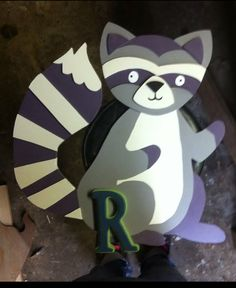 Hand made by me raccoon wall hanging. #raccoonwallhanging