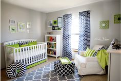 Nursery Art Nursery Collage Lime green and navy by ChicWallArt - for Missy.