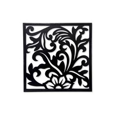 NOVICA Balinese Floral Theme Wood Carving Wall Panel (2 410 ZAR) ❤ liked on Polyvore featuring home, home decor, wall art, backgrounds, black, relief panels, wall decor, wood wall panels, flower stems and floral wall art