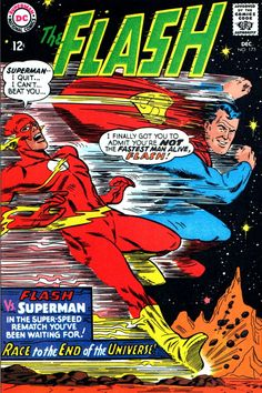 Images copyright DC COMICS S o, who's faster - SUPERMAN or The FLASH? In the Silver Age , they were presented as equals in t...