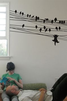 Hanging Kitten Wall Decal