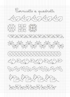Blackwork Patterns, Blackwork Embroidery, Zentangle Patterns, Embroidery Patterns, Cross Stitch Borders, Cross Stitch Designs, Cross Stitch Patterns, Graph Paper Art, Japanese Embroidery