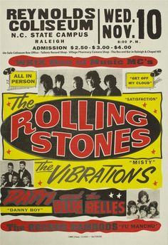 the Rolling Stones1965 English Rock Band Concert Color Poster