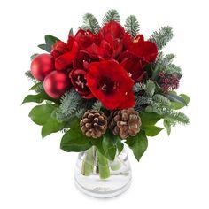 Juleblomster i en bukett Holiday Market, Xmas Holidays, Christmas Wreaths, Holiday Decor, Images, Home Decor, Blue Prints, Decoration Home, Room Decor