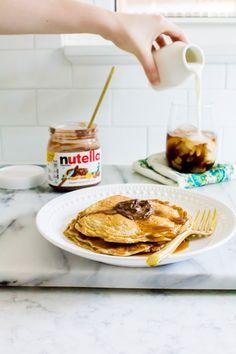 peanut butter oatmeal yogurt pancakes   immaEATthat.com
