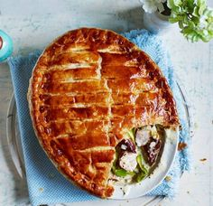 'Mum used to make this hearty pie out of leftover turkey, sausage or any other meat and the whole family loved tucking into it!'