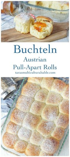 Buchteln (Austrian Pull-Apart Rolls) - Bread and Pastries - Homemade Bread Fun Baking Recipes, Bread Recipes, Real Food Recipes, Dessert Recipes, Cooking Recipes, Austrian Desserts, Austrian Recipes, Austrian Food, Austrian Bread Recipe