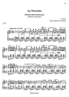 traviata verdi notas violin brindis - Buscar con Google