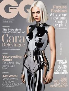 Cara Delevingne for British GQ August 2017 cover