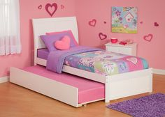 The toddler bedding sets girl includes crib sheets, bumpers, skirts and some coordinated accessories, such as diaper stackers Modern Baby Bedding, Baby Girl Bedding, Nursery Modern, Solid Wood Bunk Beds, Wooden Platform Bed, Princess Bedrooms, Atlantic Furniture, Down Comforter, Queen Bedding Sets