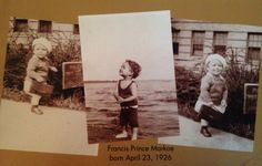 """1st son to Francis and Ruth                      Francis Prince Markoe  """" Tee"""""""