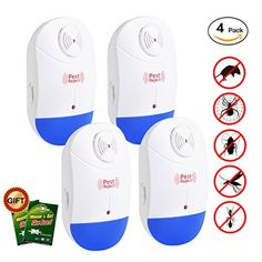 Fine Ultrasonic Pest Reject Repeller Control Electronic Pest Reject Repellent Mouse Rodent Cockroach Mosquito Gopher Insect Killer Refreshing And Beneficial To The Eyes Security & Protection Access Control Kits
