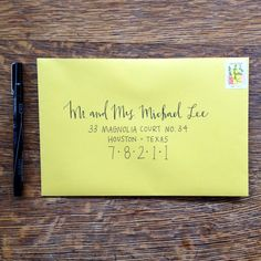 Wedding Hand Lettering Envelope Addressing by mintandmapledesigns, $2.00