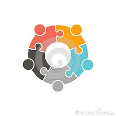 Union Of People Connected And Working Stock Illustration - Illustration of partners, happy: 86419743 Union Logo, Logo Clipart, People Logo, Round Logo, Circle Logos, Logo Ideas, Teamwork, Identity, Connection